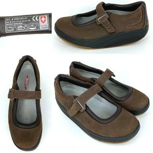MBT Kaya 7.5 Mary Jane Suede Rocking Toning Sandal